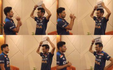 kuldeep yadav and yuzvendra chahal have fun while playing dumb charades