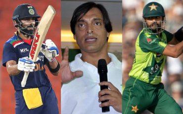 Virat Kohli, Shoaib Akhtar and Babar Azam