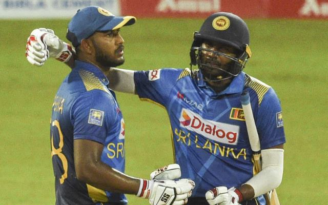 Avishka Fernando and Bhanuka Rajapaksa. (Photo by ISHARA S. KODIKARA/AFP via Getty Images)