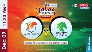 Qatar T10 Live Streaming : 5th Match Falcon Hunters vs Heat Stormers