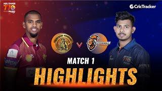 Match 1  Highlight - Maratha Arabians vs Northern Warriors, Abu Dhabi T10 leauge 2021