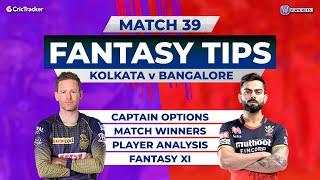 Kolkata v Bangalore Team Prediction,11Wickets Fantasy Cricket Tips,Indian T20 League,11Wickets Tips