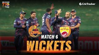 Match 6 - Deccan Gladiators vs Team Abu Dhabi, Fall Of Wickets, Abu Dhabi T10 League 2021