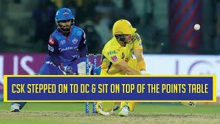 IPL 2019: Match 5: CSK take the top spot in points table by defeating Delhi Capitals