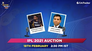 IPL Round One 2021 Live Show - Auction Day
