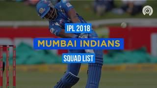 IPL 2018: MI Full Squad