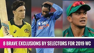 8 heartbreaking exclusions from World Cup 2019 squads