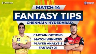 Chennai v Hyderabad Team Prediction,11Wickets Fantasy Cricket Tips, Indian T20 League 11Wickets Tips