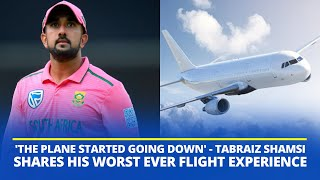 South Africa spinner Tabraiz Shamsi recalls a scary experience on flight during India series