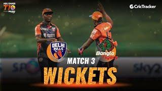 Match 3 - Delhi Bulls vs Bangla Tigers, Fall Of Wickets, Abu Dhabi T10 League 2021