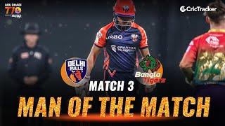 Match 3 - Delhi Bulls vs Bangla Tigers, Rahmanullah Gurbaz's 41 off 15, Abu Dhabi T10 League 2021