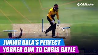 MSL 2019: Junior Dala's perfect yorker to Chris Gayle