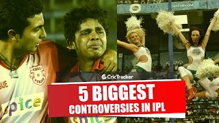 5 Biggest IPL Controversies in IPL History | Cheerleader's Racism Accusation , Shahrukh Khan Fight