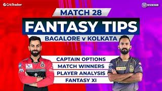 Bangalore v Kolkata Team Prediction,11Wickets Fantasy Cricket Tips, Indian T20 League,11Wickets Tips