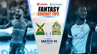 CPL 2020 Dream11 Tips | Match 10 - Guyana Amazon Warriors vs St Lucia Zouks Dream11 | CricTracker