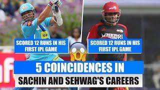 5 Interesting coincidences in Sachin Tendulkar and Virender Sehwag's careers