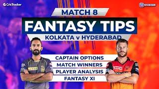Hyderabad vs Kolkata Team Prediction, 11Wickets Fantasy Cricket Tips, Indian T20 League, CricTracker