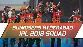 IPL 2018: Sunrisers Hyderabad updated squad