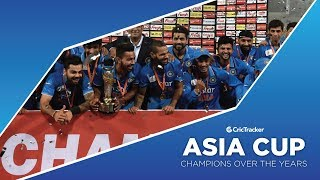 Asia Cup: Champions over the years