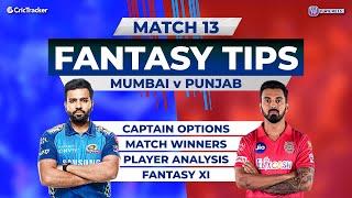 Punjab vs Mumbai Team Prediction, 11Wickets Fantasy Cricket Tips, Indian T20 League 11Wickets Tips