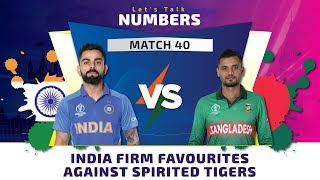 Match 40, Bangladesh vs India: Let's Talk Numbers