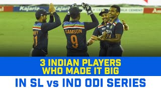 3 Indian Players Who Emerged As Superstars In The ODI Series Against Sri Lanka