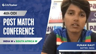 I don't think about the strike rate much: Punam Raut, Press Conference, IND W vs SA W