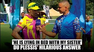 MSL 2019: Faf du Plessis' hilarious answer when asked about Hardus Viljoen's absence in the team
