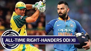 All-time right-handers ODI XI, MS Dhoni as captain.