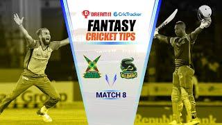 CPL 2020 Dream11 Tips | Match 8 - Guyana Warriors vs Jamaica Tallawahs Dream11 | CricTracker