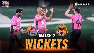 Match 2- Pune Devils vs Deccan Gladiators, Fall Of Wickets, Abu Dhabi T10 Leauge 2021