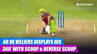 MSL 2019: AB de Villiers displays his 360° hitting skills with a scoop & reverse scoop
