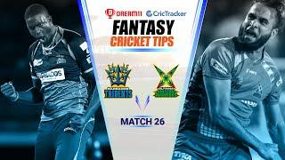 CPL 2020 Dream11 Tips | Match 26 - Guyana Warriors vs Barbados Tridents Dream11 | CricTracker