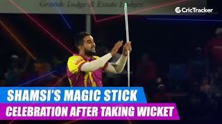 MSL 2019: Tabraiz Shamsi brings out his magic stick celebration after taking a wicket