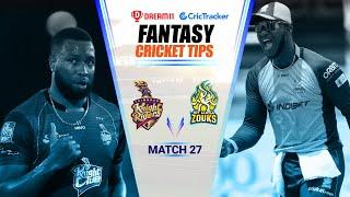 CPL 2020 Dream11 Tips | Match 27 - Trinbago Knight Riders vs St Lucia Zouks Dream11 | CricTracker