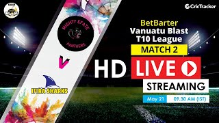 Vanuatu Blast T10 League 2020 Live Streaming : 2nd Match Mighty Efate Panthers vs Ifira Sharks