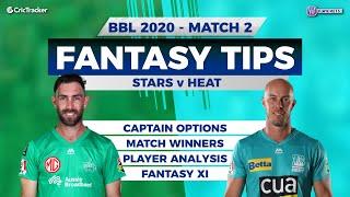 BBL, 2nd Match, 11Wickets Team, Melbourne Stars vs Brisbane Heat, Full Team Analysis