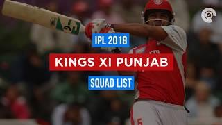 IPL 2018: KXIP Full Squad