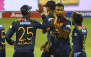 Sri Lanka Team. (Photo by ISHARA S. KODIKARA/AFP via Getty Images)