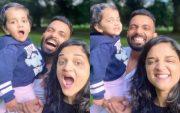 Ajinkya Rahane and family. (Photo Source: Twitter)