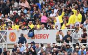 England Cricket Team Fans. (Photo by PAUL ELLIS/AFP via Getty Images)