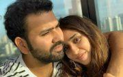 Rohit Sharma and his wife Ritika Sajdeh. (Photo Source: Instagram)