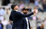 Joe Root and Virat Kohli. (Photo by Gareth Copley/Getty Images)
