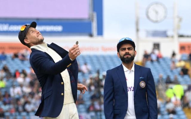 Joe Root and Virat Kohli. (Photo Source: Gareth Copley – ECB/ECB via Getty Images)