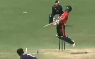 Gulshan Jha bowling. (Photo Source: Twitter)