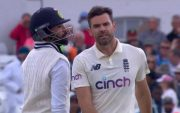 Mohammed Siraj and James Anderson. (Photo Source: Twitter)