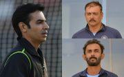 Salman Butt, Ravi Shastri, and Vikram Rathour. (Photo Source: Getty Images)