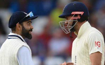Virat Kohli and James Anderson. (Photo by Eddie Keogh/Getty Images)