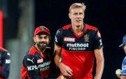 Virat Kohli and Kyle Jamieson. (Photo Source: IPL/BCCI)