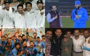 Yuvraj Singh and other Indian Cricket Team players. (Photo Source: Twitter)